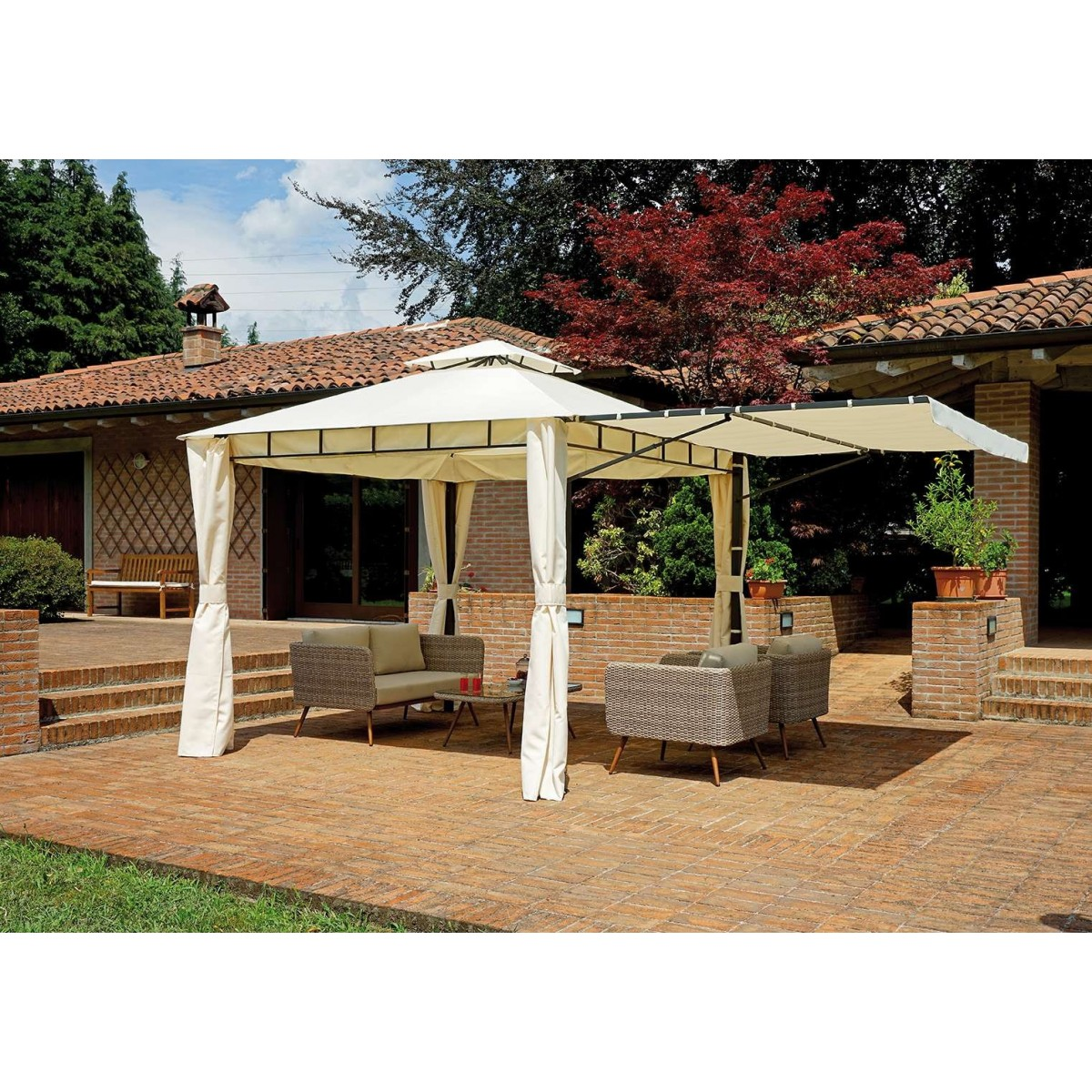 Gazebo Estensibile 3x3/5 in...